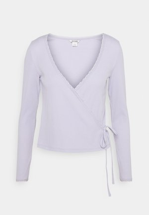 NADJA - Top sdlouhým rukávem - lilac purple dusty light solid