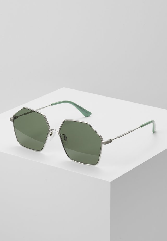 Sunglasses - silver/green