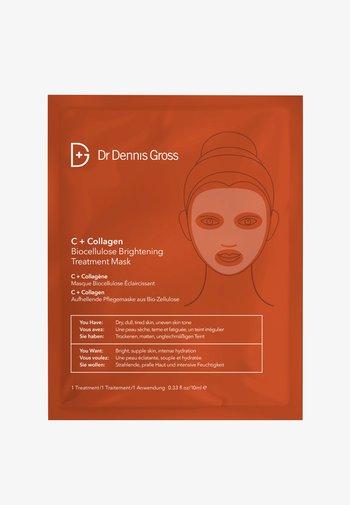 C+ COLLAGEN BIOCELLULOSE BRIGHTENING TREATMENT MASK - Face mask - -