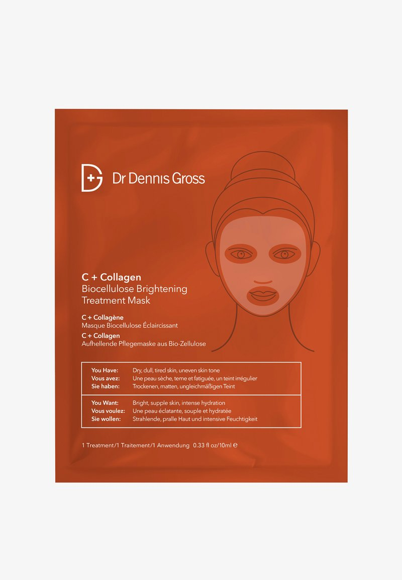 Dr Dennis Gross - C+ COLLAGEN BIOCELLULOSE BRIGHTENING TREATMENT MASK - Face mask - -