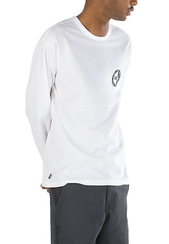 MN OFF THE WALL CLASSIC SLANTED CHECK LS - Long sleeved top - white