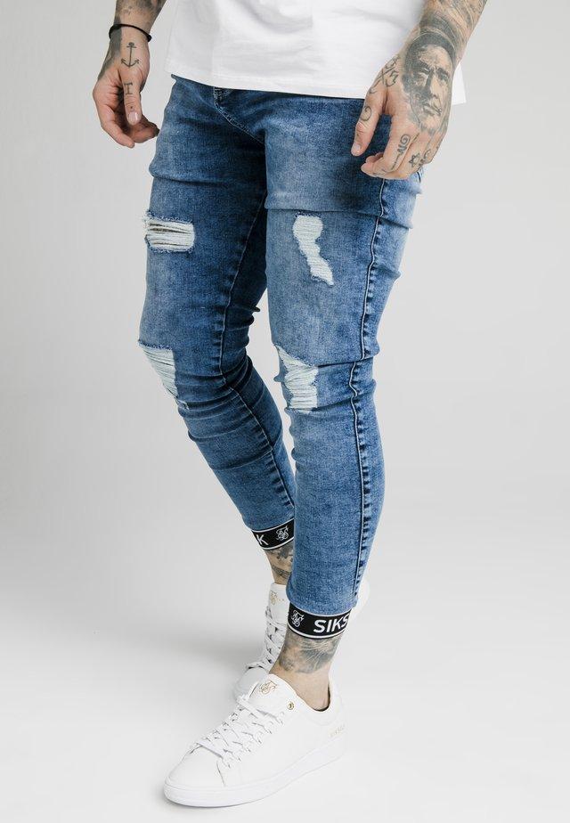 SKINNY CUFFED JEANS - Skinny džíny - blue