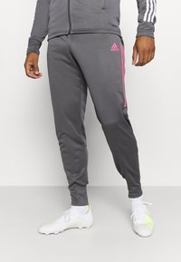 adidas Performance - REAL MADRID AEROREADY FOOTBALL TRACKSUIT SET - Klubové oblečení - grey - 4