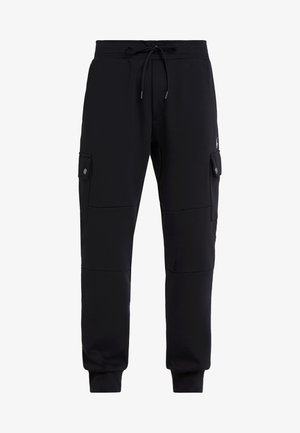 DOUBLE TECH - Tracksuit bottoms - black