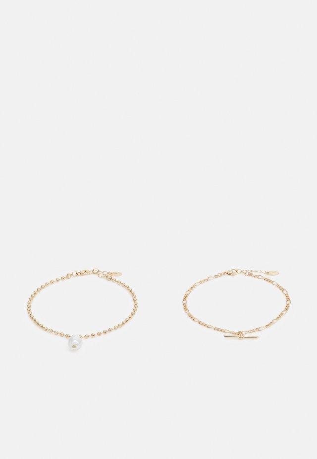 BAR ANKLET SET - Rannekoru - gold-coloured