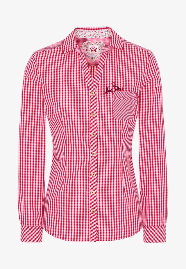 MALLORCA - Button-down blouse - red