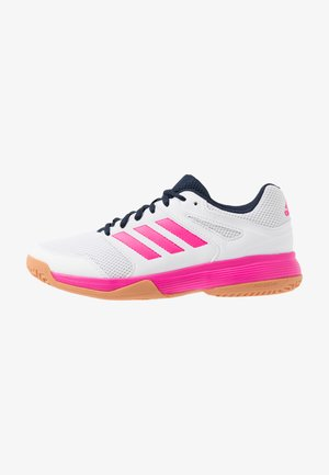 SPEEDCOURT - Handball shoes - footwear white/shock pink/collegiate navy