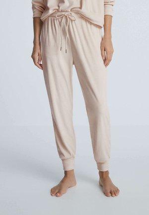 SOFT TOUCH VELOUR CUFFED - Pantaloni del pigiama - beige