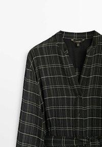 Massimo Dutti - KARIERTES - Maxiklänning - black - 3