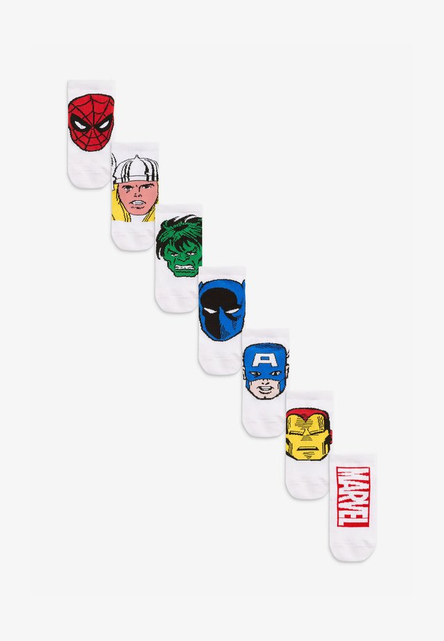 MARVEL AVENGERS 7 PACK  - Socken - white