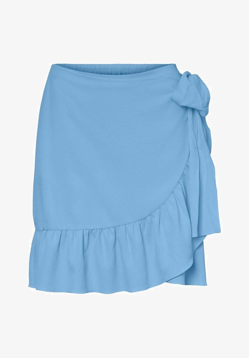 Vero Moda - ROCK WICKEL - A-line skirt - placid blue