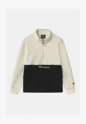 CHAMPION X ZALANDO HALF ZIP UNISEX - Fleecová mikina - off-white/black