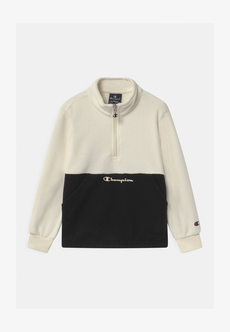 Champion - CHAMPION X ZALANDO HALF ZIP UNISEX - Fleecepullover - off-white/black
