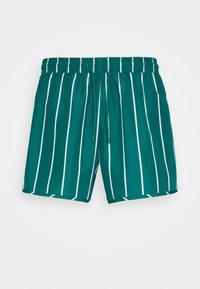Weekday - STRIPED SWIM - Swimming shorts - petrol green/white - 3