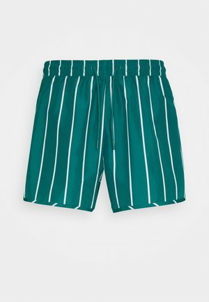 STRIPED SWIM - Badeshorts - petrol green/white