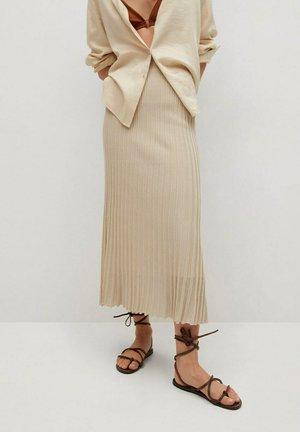Pleated skirt - ecru