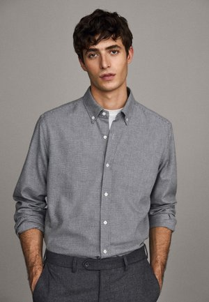 MIT HAHNENTRITTMUSTER - Shirt - light grey