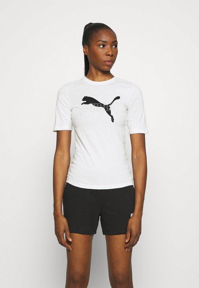 NU TILITY TEE - T-shirt imprimé - white heather