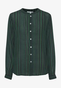 Kaffe - KANORA - Button-down blouse - dark green stripe print - 3