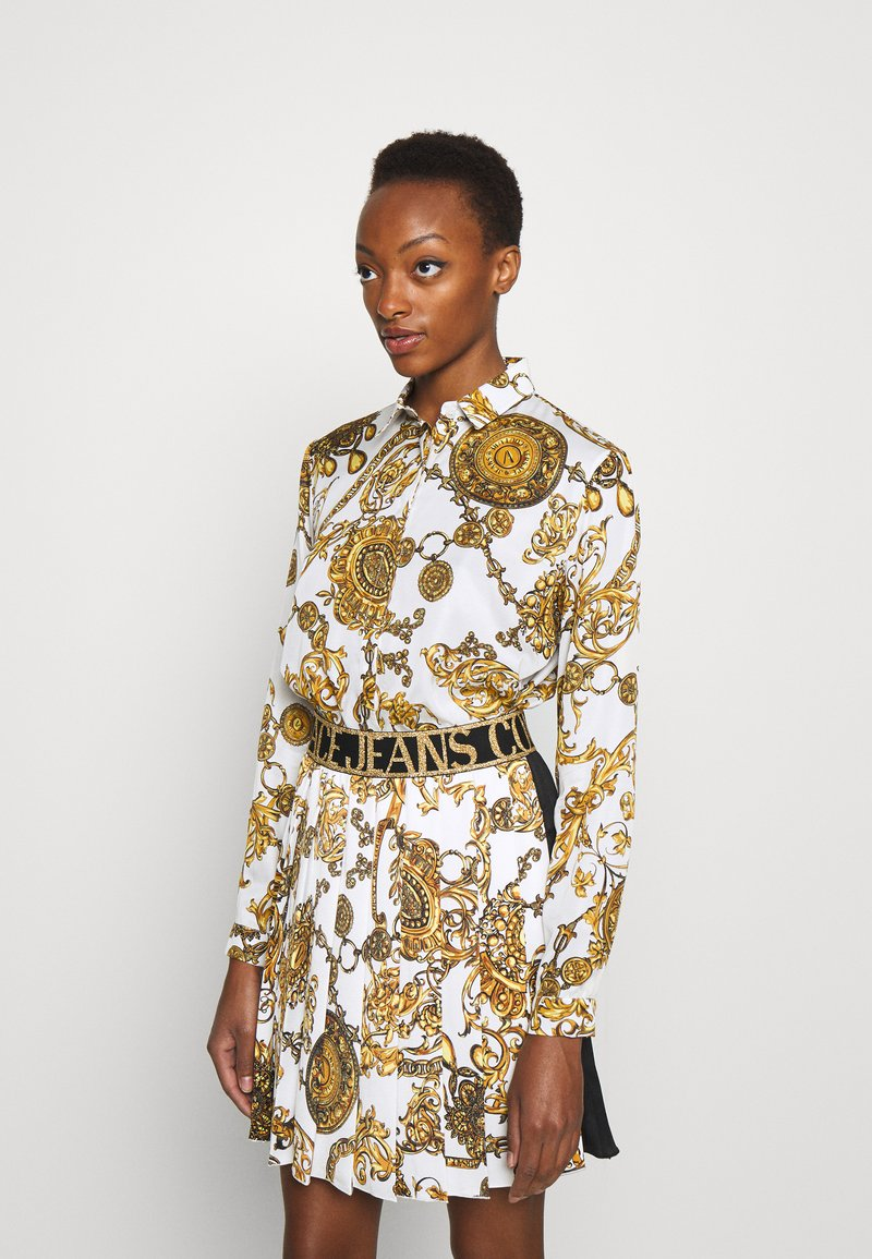Versace Jeans Couture - SHIRT - Blouse - white/gold