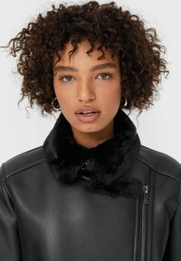 Stradivarius - DOUBLEFACE - Faux leather jacket - black - 3