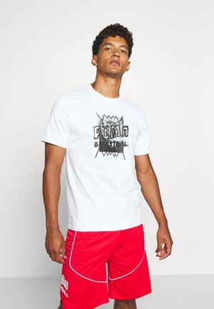 HOOPS STREET TEE - T-shirt imprimé - white