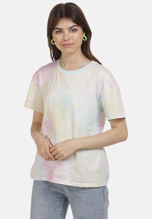 Basic T-shirt - pink blau gelb
