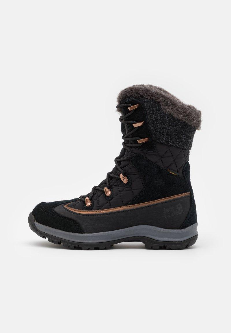 Jack Wolfskin - ASPEN TEXAPORE HIGH  - Winter boots - black/dark grey
