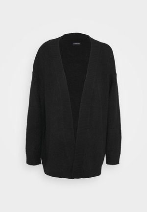 BASIC- OPEN SPONGY CARDIGAN - Cardigan - black