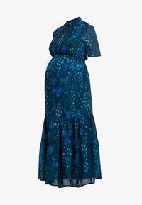 Hope & Ivy Maternity - MIRROR PRINT SKATER DRESS WITH DROP HEM - Maxi dress - blue - 4