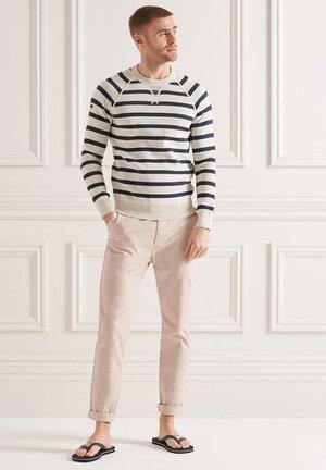 Jumper - ice marl/navy stripe