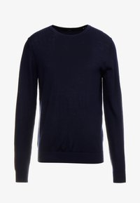 JPRMARK MERINO KNIT CREW NECK - Pullover - maritime blue