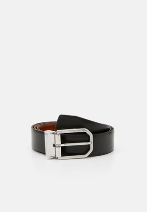 TWO FINISH FACETED  - Belt - black