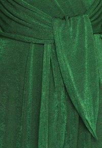 Closet - TWIST FRONT LONG SLEEVE DRESS - Day dress - dark green - 2