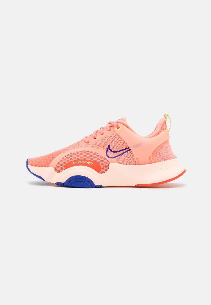 Nike Performance - SUPERREP GO 2 - Sports shoes - crimson bliss/concord/crimson tint/team orange/lime glow