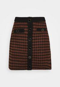 Fashion Union - JOHNNY SKIRT - Mini skirt - camel check - 0