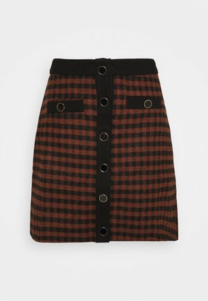 JOHNNY SKIRT - Mini skirt - camel check