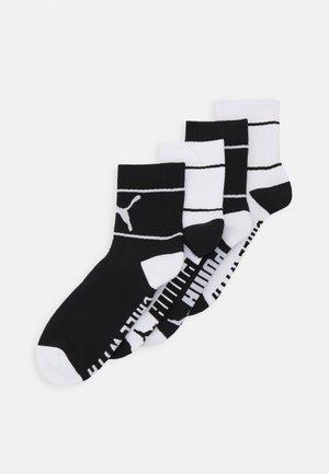 CHILL SHORT CREW 4 PACK UNISEX  - Chaussettes de sport - black/white