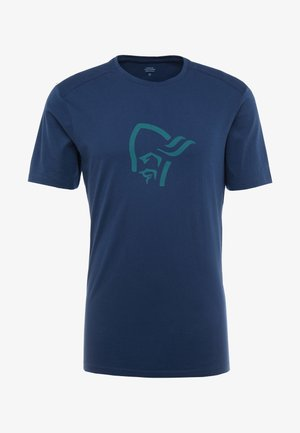 T-shirt med print - indigo night