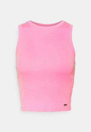 HIGH NECK BOYTANK - Top - pink