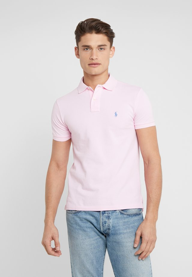 SHORT SLEEVE KNIT - Polo - carmel pink