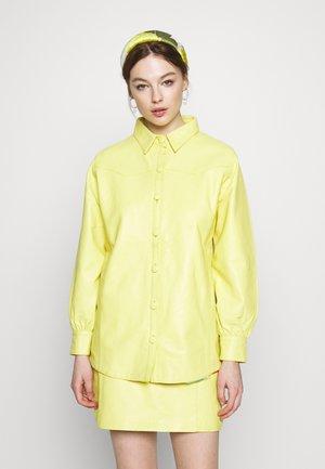RUDY SHIRT - Leather jacket - yellow