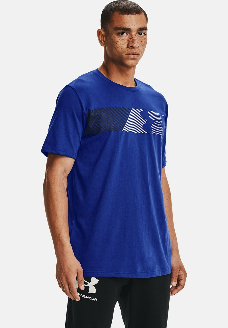Under Armour - FAST LEFT CHEST - Print T-shirt - royal