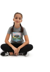 Vans - GR SKULL BOX - T-shirt print - cement heather - 1