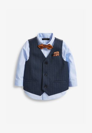 DOUBLE BREASTED - Suit waistcoat - dark blue