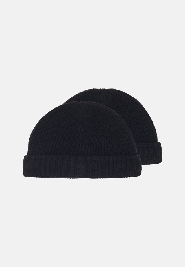 ONSSHORT BEANIE 2 PACK - Bonnet - black