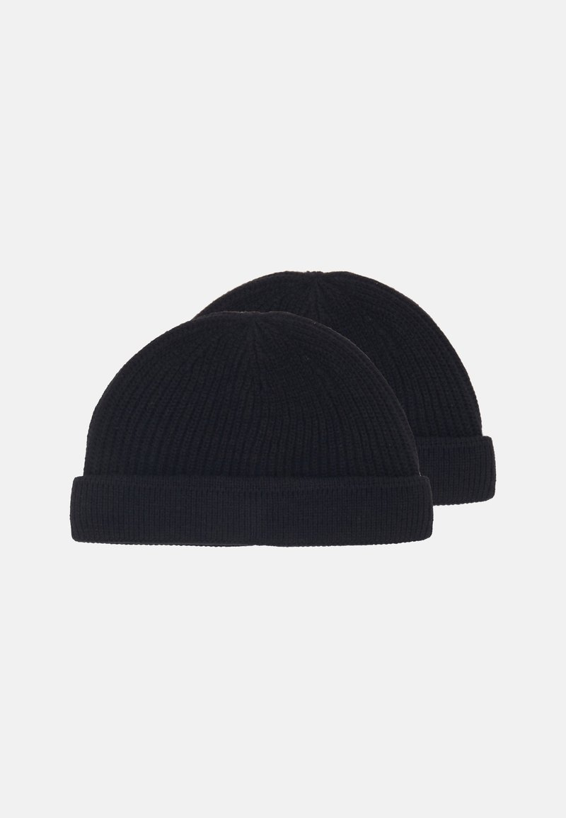 Only & Sons - ONSSHORT BEANIE 2 PACK - Čepice - black