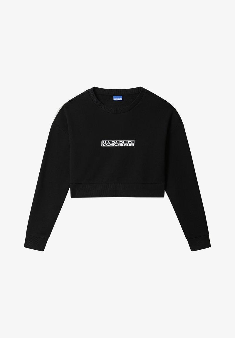 Napapijri - B-BOX CROPPED CREW - Sweatshirt - black