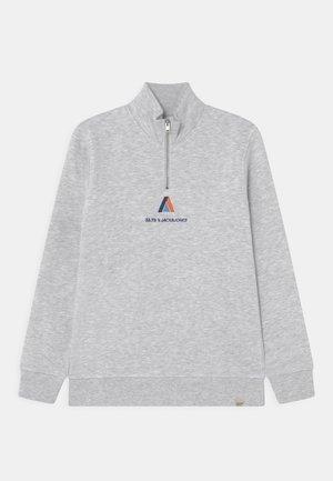 JORCLAYTON HALF ZIP JR - Sweatshirt - white melange