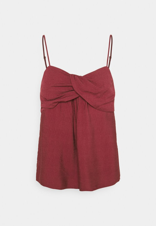 TWIST BODICE - Top - cranberry red